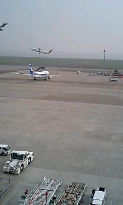 羽田空港で